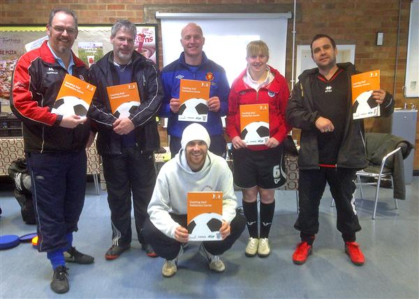 Coaches on the Coaching Deaf Footballers course in Yeovil on 18th Feb 2012