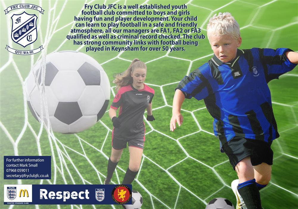 New Players are always welcome at Fry Club JFC