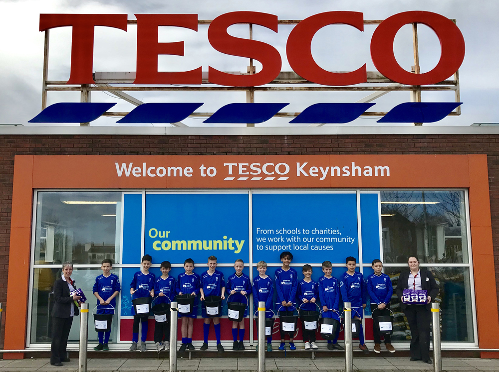 Bag packing at Tesco to raise funds for Charity